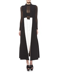 Narciso Rodriguez Colorblock Shawl Collar Long Vest