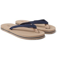 Brunello Cucinelli Cotton Canvas Flip Flops Navy