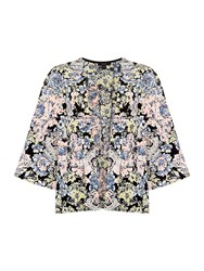 Therapy Pastel Floral Kimono Blazer Multi Coloured