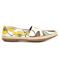 Paul And Joe St Espa Beige Floral Textile Espadrilles