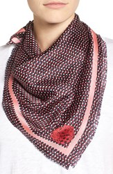 Vince Camuto Women's Polka Dot Party Square Silk Scarf Pink Glow