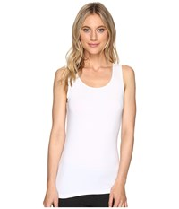 Hanky Panky Cotton With A Conscience Scoop Neck Tank Top White Women's Sleeveless