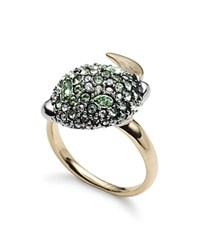 Alexis Bittar Crystal Encrusted Ring Silver Gold