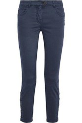 Belstaff Rossport Cropped Mid Rise Skinny Jeans Storm Blue