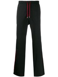 Versace Collection Contrast Piping Track Pants Black