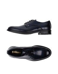 Galliano Footwear Lace Up Shoes Dark Blue