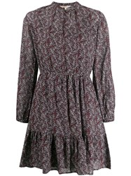 Vanessa Bruno Floral Short Dress Purple
