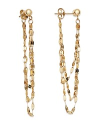 Moon And Meadow Draped Triple Chain Drop Earrings In 14K Yellow Gold 100 Exclusive