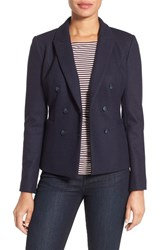 Nordstrom Women's Collection 'Ariso' Interlock Knit Double Breasted Jacket