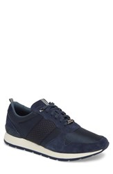 Ted Baker London Hebey Lace Up Sneaker Dark Blue Textile