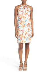 Women's Tommy Bahama 'Palms Of Paradise' Print Linen Tie Back Shift Dress