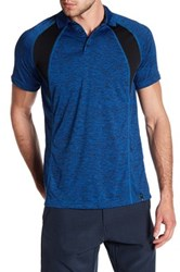 Burnside Spread Collar Raglan Sleeve Polo Blue