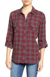 Kut From The Kloth Women's 'Evelyn' Plaid Roll Sleeve Shirt