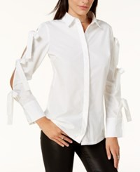 By Glamorous Tied Sleeve Shirt Created For Macy's White