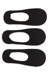 Women's Sof Sole Liner Socks Black 3 Pack