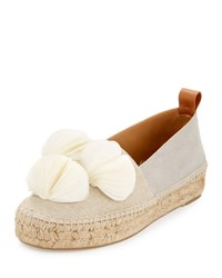 Mercedes Castillo Marianna Canvas And Suede Espadrille Flat White Pattern