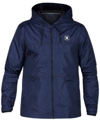 Hurley Men's Runner 2.0 Lightweight Jacket Obsidian