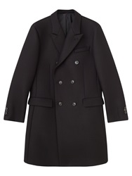 Jigsaw Double Faced Tailored Double Breasted Coat Black