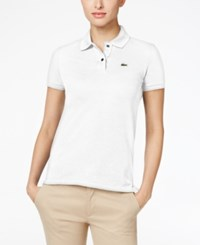 Lacoste Two Button Classic Fit Polo White