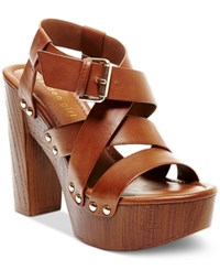 Madden Girl Madden Girl Juune Strappy Platform Sandals Women's Shoes Cognac