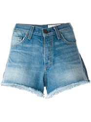 Rag And Bone Jean Lateral Detailing Shorts Blue
