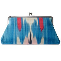 Catrinka Elnora Snap Clutch Blue