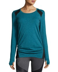 Marc New York Drawstring Hem Long Sleeve Tee Frozn Bk