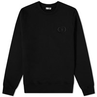 Christian Dior Cd Embroidered Crew Sweat Black