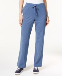 Karen Scott Petite Drawstring Active Pants Only At Macy's Heather Indigo