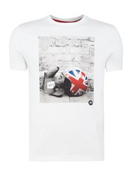 Merc Men's Torcross Helmet Print Short Sleeve T Shirt White
