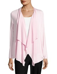 Ivanka Trump Pleated Flyaway Cardigan Light Lilac