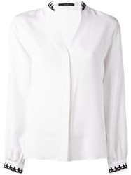 Etro Embellished Collar Shirt White