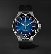 Oris Clipperton Automatic 43.5Mm Stainless Steel And Rubber Watch Blue
