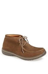 Men's Alegria 'Packard' Moc Toe Chukka Boot Chocolate Nubuck