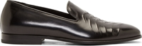 Alexander Mcqueen Black Leather Rib Cage Loafers