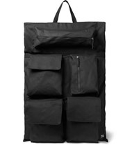 Raf Simons Eastpak Oversized Printed Shell And Cotton Canvas Backpack Black