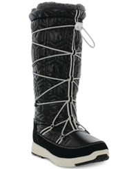 Khombu Women's Slalom V Lace Up Cold Weather Boots Women's Shoes Black