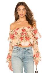 Finders Keepers Arcadia Off Shoulder Top Peach