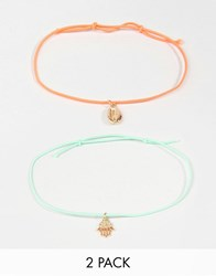 Orelia Summer Daze Multipack Friendship Bracelets Multi