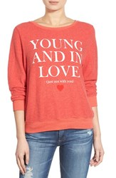 Wildfox Couture Women's Wildfox 'Baggy Beach Jumper Not With You' Pullover Ariel Red