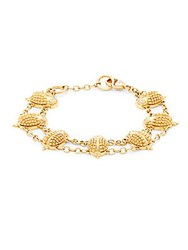 Temple St. Clair Yellow Gold And Diamond Scarab Charm Bracelet
