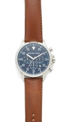 Michael Kors Gage Chronograph Watch Stainless Steel Brown