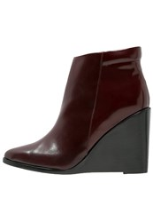 Whyred Binnie High Heeled Ankle Boots Oxblood Red