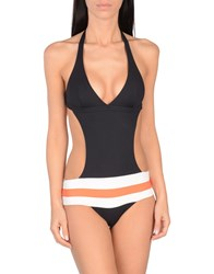 Nadia Guidi One Piece Swimsuits Black