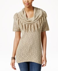 G.H. Bass And Co. Fringe Cowl Neck Sweater
