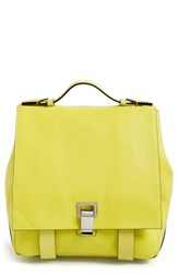 Proenza Schouler 'Small Ps Courier' Leather Backpack Green Sulphur
