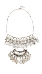 Raga Gypsy Coin Bib Necklace Silver