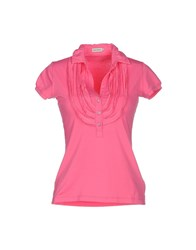 Henry Cotton's Topwear Polo Shirts Women Fuchsia