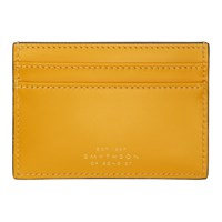 Smythson Yellow Wigmore Card Holder