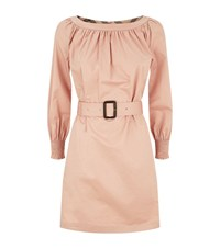 Burberry Belted Dress Female Pink